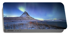 Northern Lights Atop Kirkjufell Iceland Portable Battery Charger
