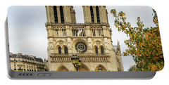 Notre Dame Cathedral Paris France Portable Battery Charger