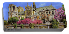Notre Dame In Primavera Portable Battery Charger