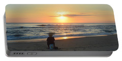 Portable Battery Charger featuring the photograph November 3, 2018 Fisherman by Barbara Ann Bell