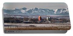 Portable Battery Charger featuring the photograph November Nanton by Brad Allen Fine Art