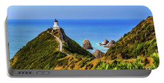 Nugget Point Lighthouse, New Zealand Portable Battery Charger