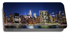 Portable Battery Charger featuring the photograph Nyc Nightshine by Theodore Jones