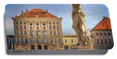 Portable Battery Charger featuring the photograph Nymphenburg Palace by Edmund Nagele