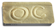 Portable Battery Charger featuring the photograph O C In The Ocean City Sand by Bill Swartwout Fine Art Photography