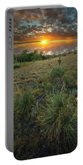 Portable Battery Charger featuring the photograph Oahe Sunset  by Aaron J Groen
