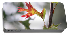 Oak Leaf Turning Portable Battery Charger