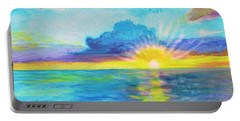 Ocean In The Morning Portable Battery Charger