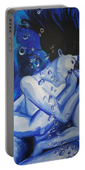 Portable Battery Charger featuring the painting Ocean's Embrace  by Jennah Lenae