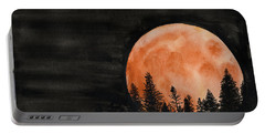 Portable Battery Charger featuring the painting October 2018 by Betsy Hackett