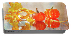 Portable Battery Charger featuring the photograph October Reflections by Randi Grace Nilsberg
