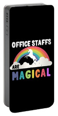 Portable Battery Charger featuring the digital art Office Staffs Are Magical by Flippin Sweet Gear