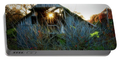 Old Barn At Sunset Portable Battery Charger
