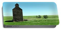 Old Grain Silo Near Cartwright North Dakota Portable Battery Charger