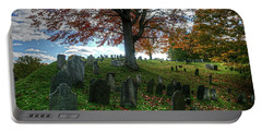 Old Hill Burying Ground In Autumn Portable Battery Charger