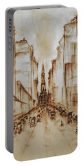 Old Philadelphia City Hall 1920 - Pencil Drawing Portable Battery Charger