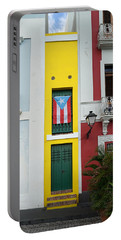 Old San Juan - The Narrow House Patriot- Richard Reeve Portable Battery Charger