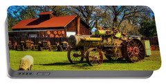 Old Steam Tractor And Sheep Portable Battery Charger
