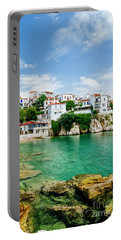 Old Town View Of Skiathos Island, Sporades, Greece.  Portable Battery Charger