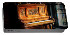 Old Wooden Piano Portable Battery Charger