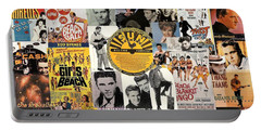 Oldies Pop And Rock Collage 1 Portable Battery Charger