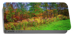 Portable Battery Charger featuring the photograph On The Edge Of Fall by Lynn Bauer