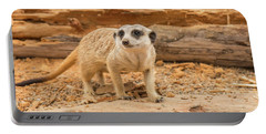 One Meerkat Looking Around. Portable Battery Charger