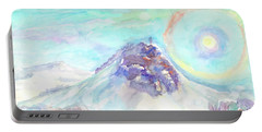 Portable Battery Charger featuring the painting Optical Phenomenon - Halo by Dobrotsvet Art
