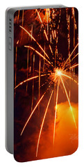 Orange Fireworks Portable Battery Charger