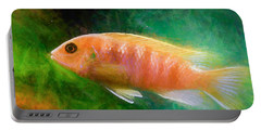 Orange Cichlid Chalk Smudge Portable Battery Charger
