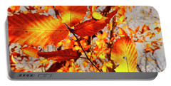 Orange Fall Leaves Portable Battery Charger