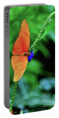 Orange Julia Butterfly Portable Battery Charger