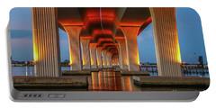 Orange Light Bridge Reflection Portable Battery Charger