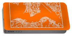 Orange Map Of Hong Kong Portable Battery Charger