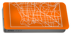 Orange Map Of Los Angeles Portable Battery Charger