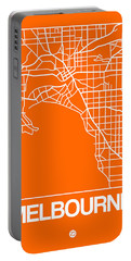 Orange Map Of Melbourne Portable Battery Charger