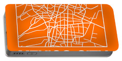 Orange Map Of Mexico City Portable Battery Charger