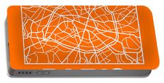 Orange Map Of Paris Portable Battery Charger