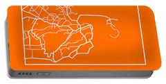 Orange Map Of Rio De Janeiro Portable Battery Charger