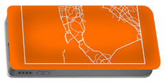 Orange Map Of San Francisco Portable Battery Charger