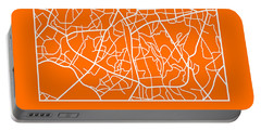 Orange Map Of Sao Paulo Portable Battery Charger
