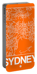 Orange Map Of Sydney Portable Battery Charger