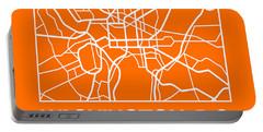 Orange Map Of Washington, D.c. Portable Battery Charger