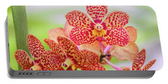 Orange Spotted Orchids Portable Battery Charger