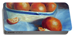 Oranges And Blue Portable Battery Charger
