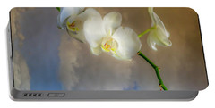 Orchid With Clouds Portable Battery Charger