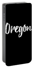 Portable Battery Charger featuring the digital art Oregon by Flippin Sweet Gear