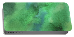 Organic Green Abstract Watercolor Wash Portable Battery Charger