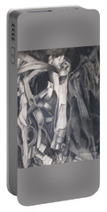 Portable Battery Charger featuring the drawing Organic Jungle by Rosanne Licciardi