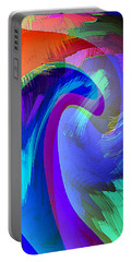 Original Fine Art Digital Abstract Warp10c Scaled Blue. Portable Battery Charger